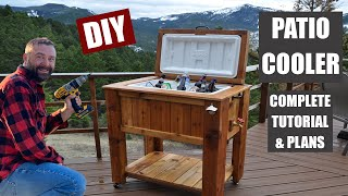 How To Build A Patio Cooler Ice Chest