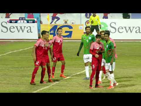 बंगलादेशलाई हराउँदै नेपाली फुटबल टोली फाइनलमा Ll SAG FOOTBAL NEPAL VS BANGLADESH HIGHLIGHTS!!!