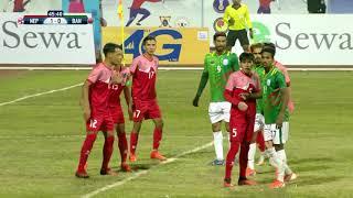 ll SAG FOOTBAL NEPAL VS BANGLADESH HIGHLIGHTS