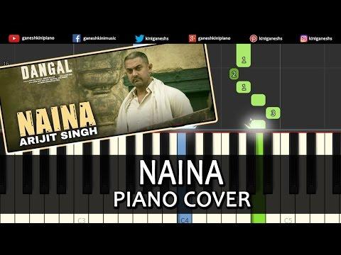 Naina Dangal|Arijit Singh|Hindi Song|Piano Chord Tutorial Lesson Instrumental Karaoke By Ganesh Kini