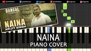 Download Hindi Video Songs - Naina Dangal|Arijit Singh|Hindi Song|Piano Chord Tutorial Lesson Instrumental Karaoke By Ganesh Kini
