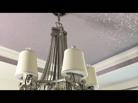 Decorate With Me | Home Office Makeover Series | How To Stencil A Ceiling