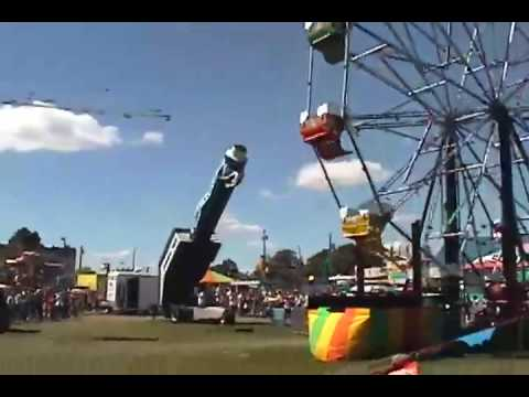 "Human ""Cannonball Smith"" at Steele County Fair`"