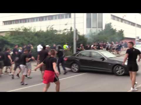 Hooligans: Žilina (Slovakia) vs. Olimpija Ljubljana (Slovenia) 20.07.2016