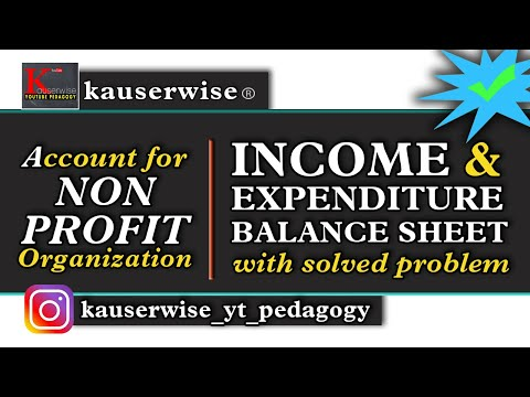 Income and Expenditure A/c & Balance Sheet (with solved problem) by:- kauserwise