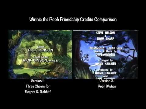 Winnie the Pooh Friendship Credits Comparison