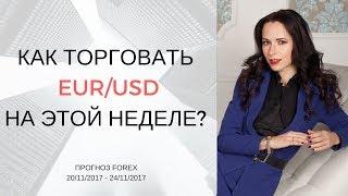 Как торговать EUR/USD на этой неделе? [Прогноз Forex 20/11/2017 - 24/11/2017]