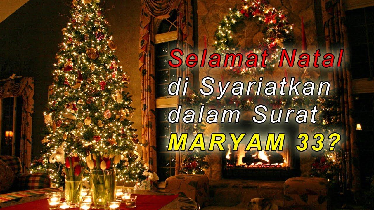 Menepis Surat Maryam 33 Mensyariatkan Mengucapkan Selamat Natal Ust Firanda Andirja Lcma