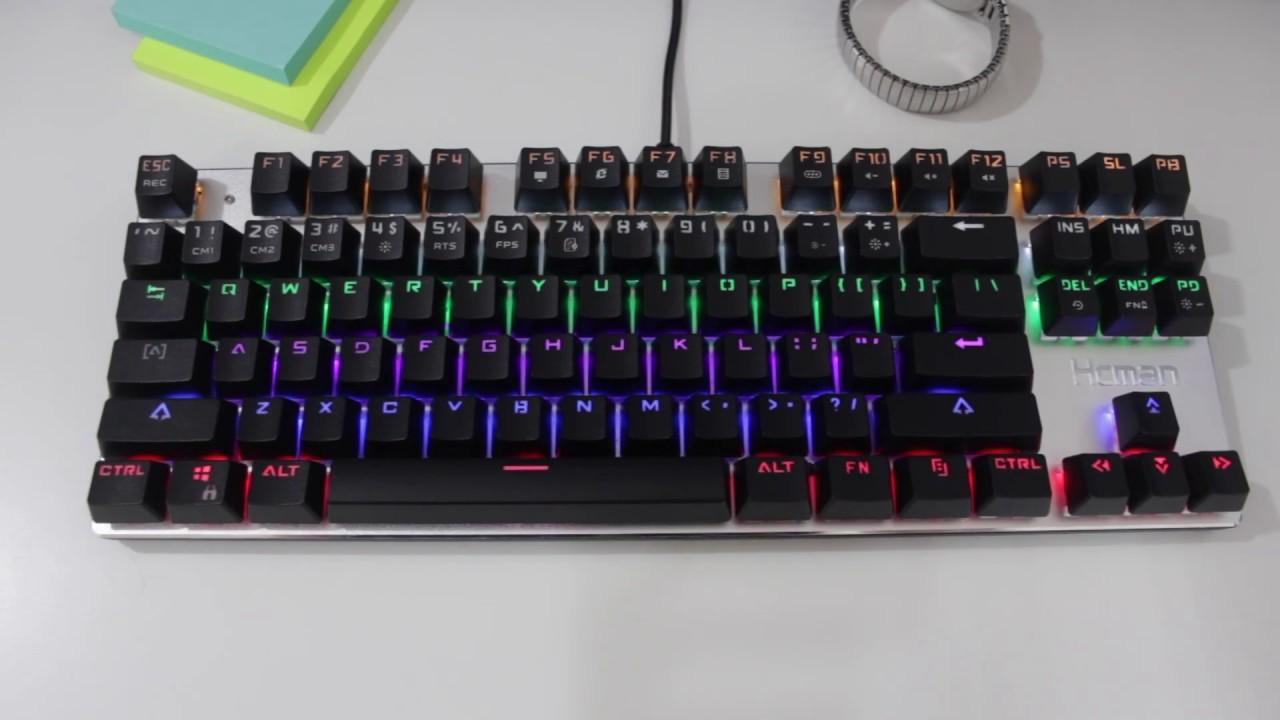 235fb676426 Is a $30 Budget Mechanical Keyboard Any Good?? - Hcman Gaming Mechanical  Led Backlit Keyboard