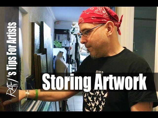 Storing Artwork - Tips For Artists