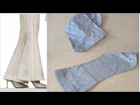 Stylish , fashionable and beautiful bell bottom trouser cutting tutorial
