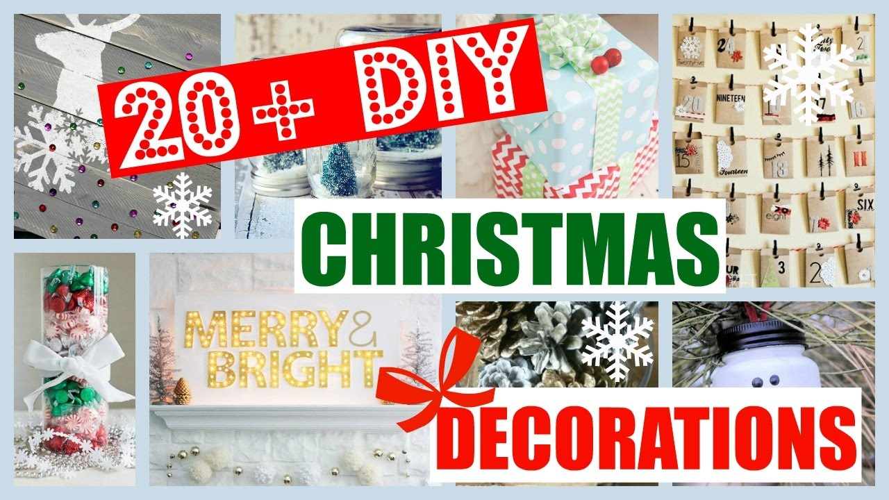 20 Diy Christmas Room Decor Ideas You Need To Try Asap Diy Christmas Decorations Youtube