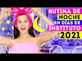 RUTINA DE NOCHE EN DÍAS DE INSTITUTO 2021 ⭐️ NUEVA HABITACIÓN ⭐️ | Daniela Golubeva