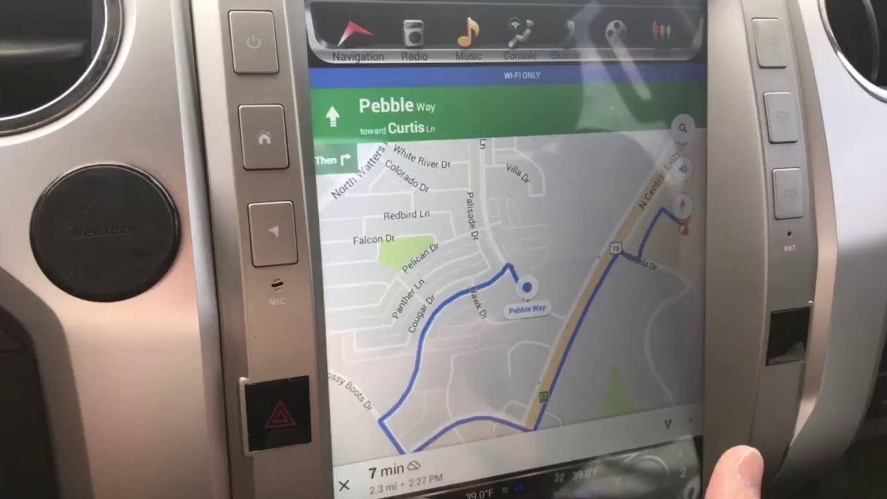 Tundra Android Tesla Style Radio Install - Google Maps GPS Navigation on google chrome search, google sync android, google maps android icon, city maps 2go android, google docs offline android,