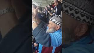 Trabzonsporlu fanatik dedenin gol sevinci