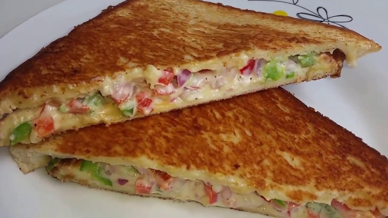 Veg Mayonnaise Sandwich On Tawa Recipe Youtube