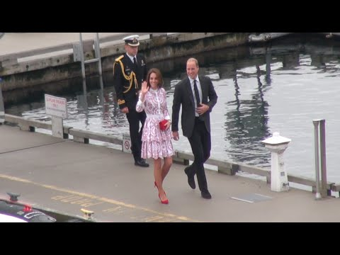 Royal visit- Prince William and Kate arrives in Vancouver
