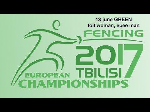 #European Champioships Tbilisi Woman Foil/Man Epee individual GREEN piste