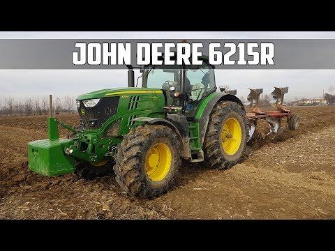 John Deere 6215r + Trivomere De Franceschi  | Plowing 2017