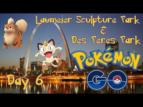 Pokemon Go - Day 6 Laumeier Sculpture Park & Des Peres Park