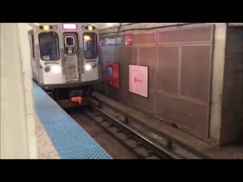 CTA Red Line Subway Chicago Station to Harrison Station 8/7/18