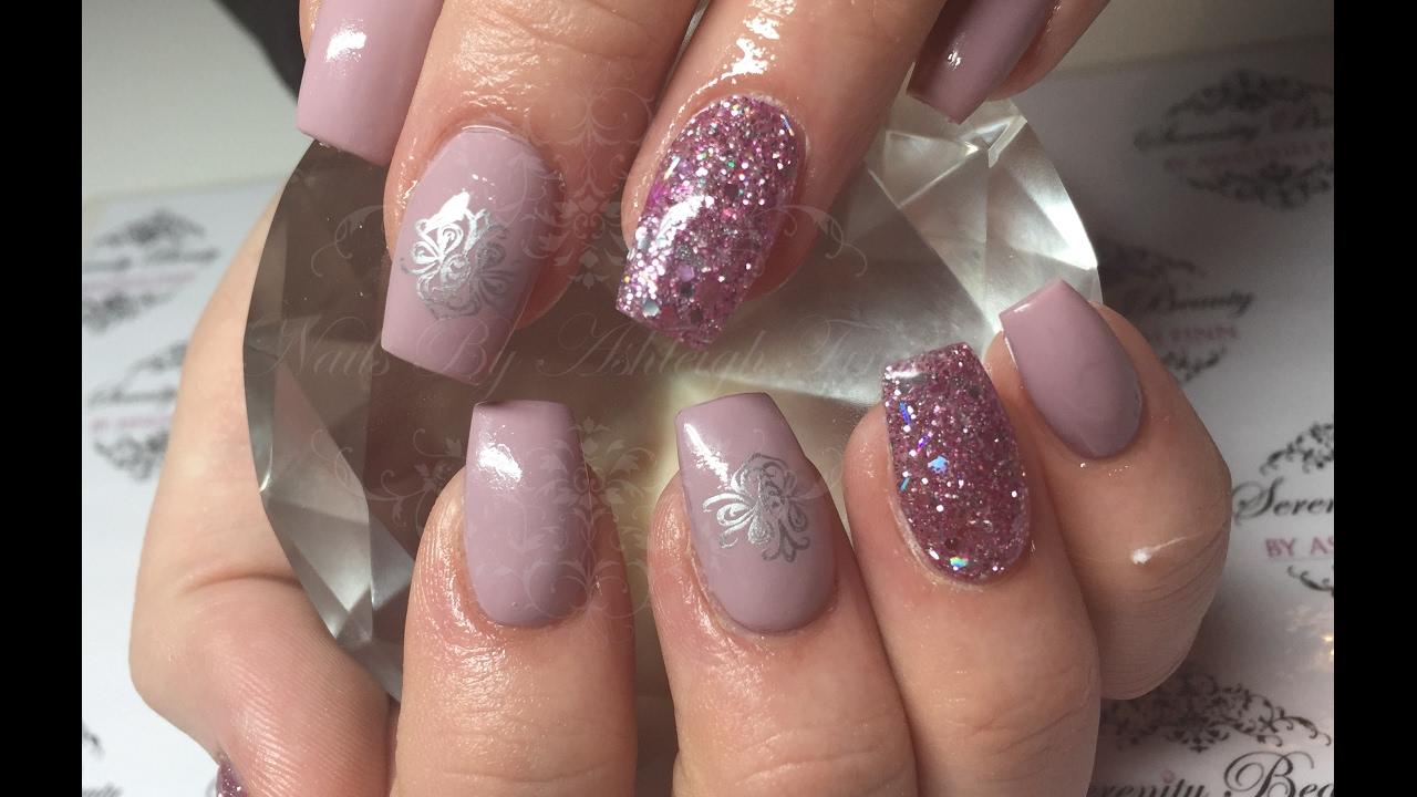 Gorgeous Pink Sparkle | Acrylic Nails - YouTube