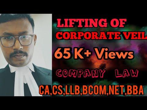 LIFTING OF CORPORATE VEIL PART 1 BY BHANU PRATAP