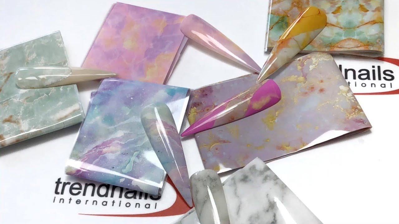 Marmor-Nageldesign - Bereits in wenigen Sekunden fertig! 🤩 Marmor Nägel | Marble Nails