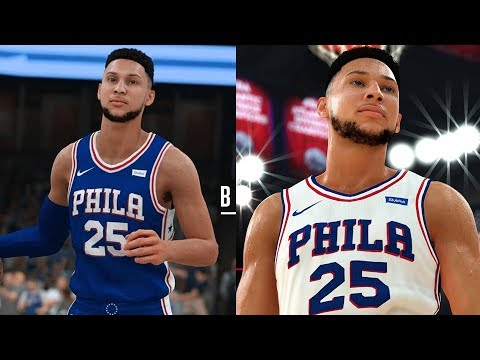 NBA 2K19 Ben Simmons Screenshot and Rating!