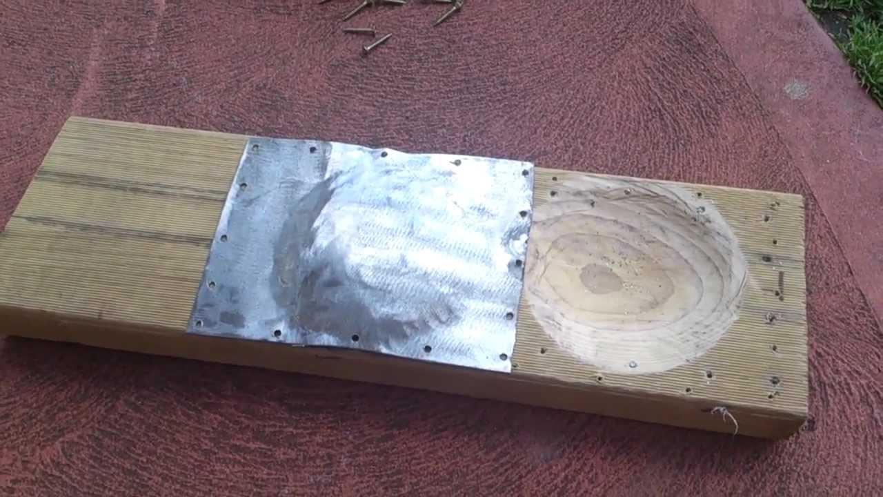 Sheetmetal Forming Shaping With Wooden Form Youtube