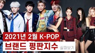 남자 여자 아이돌  2월 브랜드 평판 지수 BTS  블랙핑크ㅣNCT 세븐틴 EXO (여자)아이들 마마무 트와…