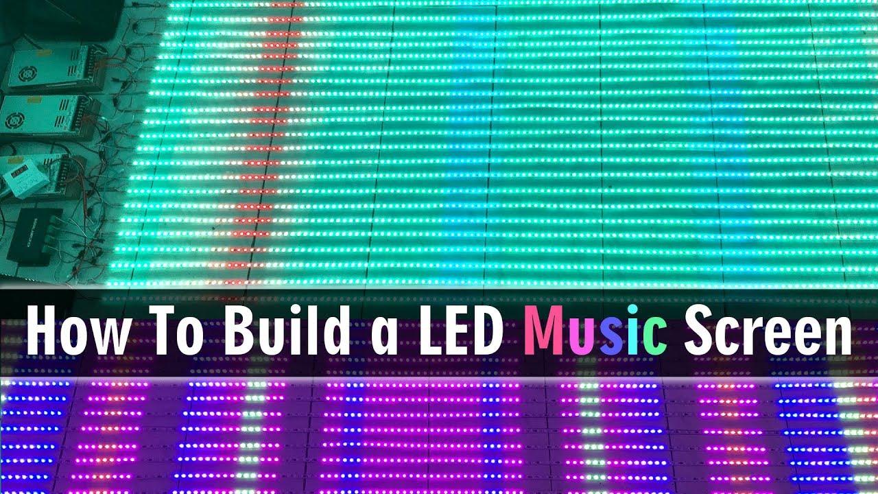 Led strip display music