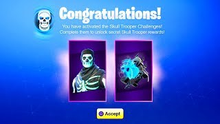 The NEW Fortnite SKULL TROOPER CHALLENGES! (How To Get Skull Trooper Backbling)