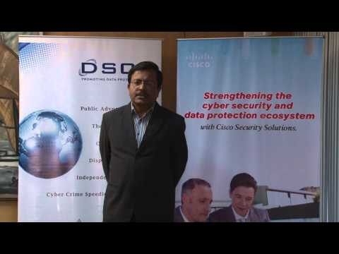 Indrajit Saha Indian Oil speaking on DSCI-Cisco Security Thought Leadership Program