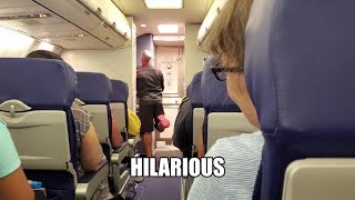 Funniest Flight Attendant Ever