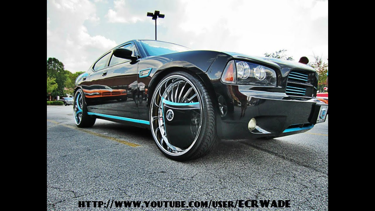 "Dodge Charger On 26"" Dub Azzmacka && Shokka Spinners - YouTube"