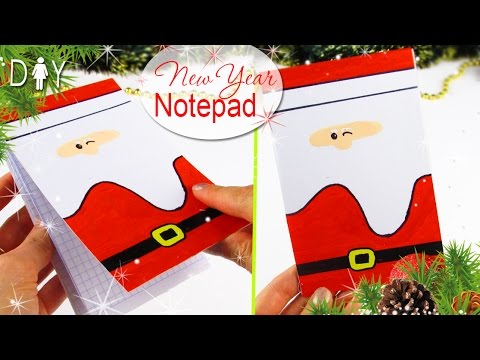 DIY NOTEPAD from scratch 🎅 EASY TUTORIAL 🎄NO SEW NO SPEND MONEY