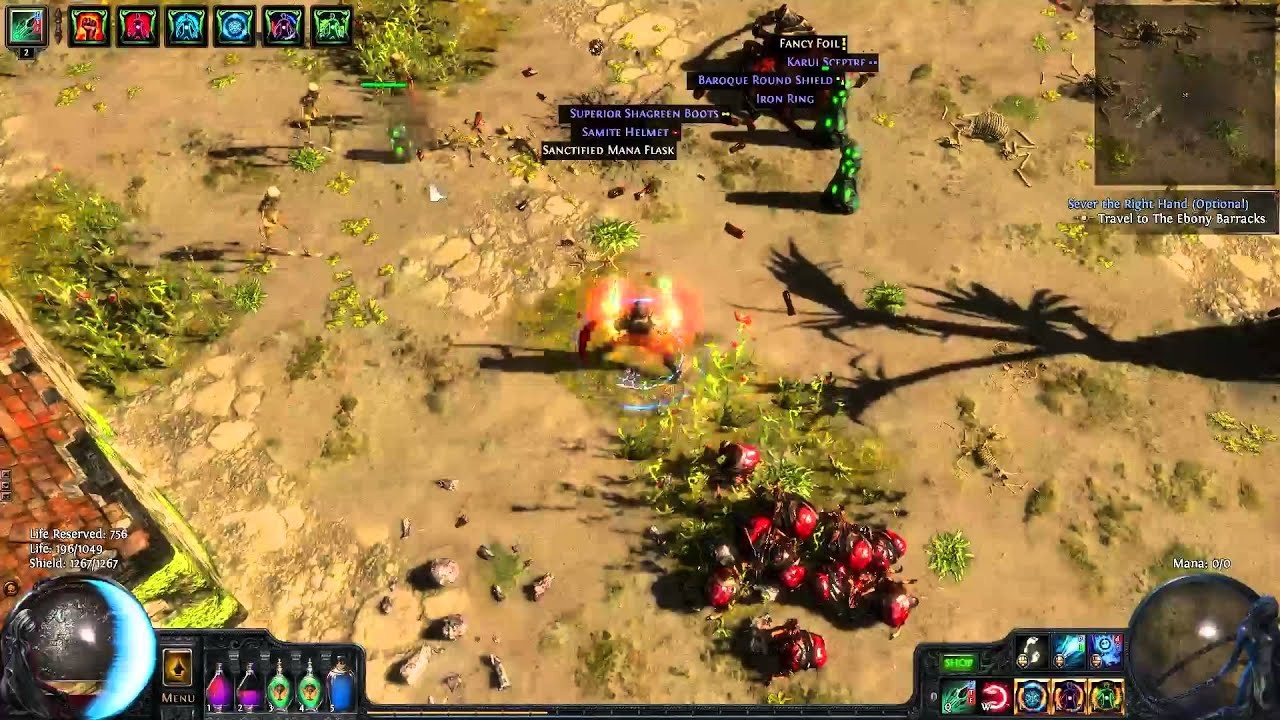Path Of Exile: Proof Of Concept Dual Ethereal Knives Totem (blood Magic &  Low
