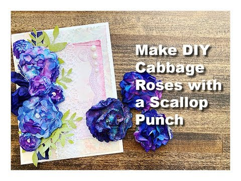 Making DIY Craft Flowers with a Scallop Punch