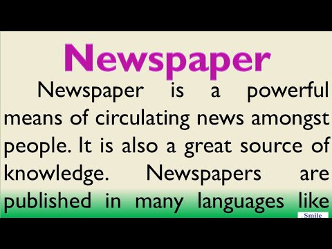Essay on Importance of Newspaper in English