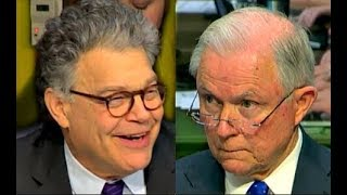 Al Franken LAUGHS at Jeff Sessions trying to answer his questions  10/18/2017 Free HD Video