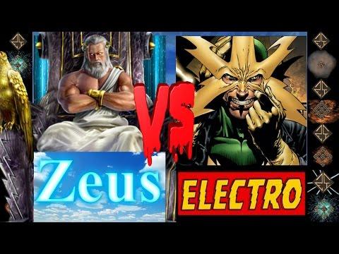 Zeus (Greek Mythos) vs Electro (Marvel Comics) - Ultimate Mugen Fight 2016