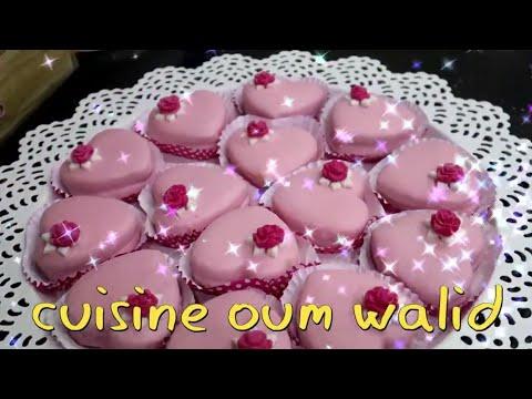 oum-walid-gateau-aid-2020-coeurs-aux-fraises-ام-وليد-حلوة-العيد-قلوب-بعجينة-الڨوفريط-بذوق-الفريز