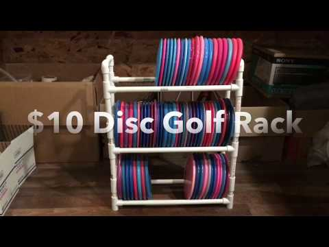 Easy $10 Disc Golf Rack