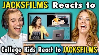 JACKSFILMS REACTS TO COLLEGE KIDS REACT TO JACKSFILMS