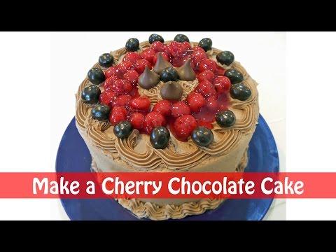 Chocolate Cherry Holiday Cake Recipe - 3 Ingredients