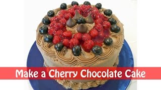 Chocolate Cherry Holiday Cake Recipe - 3 Ingredients