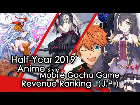 (J.P.)Half-Year Anime Style Gacha Mobile Game Revenue Review 二次元ゲームランキング
