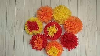 Как сделать ЦВЕТЫ ИЗ САЛФЕТОК.  Очень легко сделать цветы из салфеток!