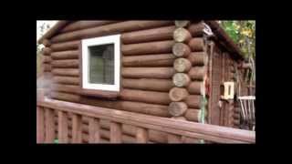 How to build a Log Cabin on a budget.
